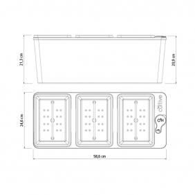 Vaso Autoirrigável Triplo Tramontina Polipropileno Café 59 x 25 x 21 cm 10,5 L 78134609