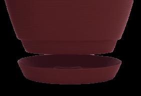 Vaso Tramontina Asteca 24 x 28,5 cm 9 Litros Em Polietileno Marsala 92605054