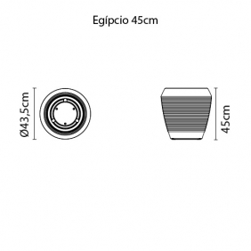 Vaso Tramontina Egípcio 45 x 33 cm 40 Litros Areia 92784000