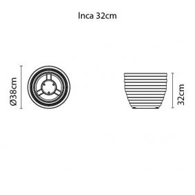 Vaso Tramontina Inca 32 x 38 cm 26 Litros Mármore 92788010