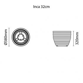 Vaso Tramontina Inca 32 x 38 cm 26 Litros Terracota 92788109