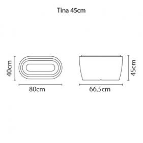 Vaso Tramontina Tina 80 x 40 x 45 cm 36 Litros Branco 92771010