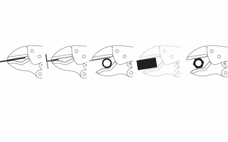 """Alicate de Pressão Tramontina Pro 10"""" Mordente Triangular 44012110"""