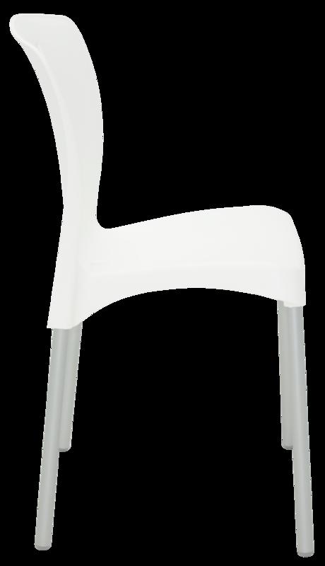 Cadeira Tramontina Mona Branca sem Braços em Polipropileno com Pernas Anodizadas  Tramontina 92050010