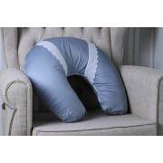 Almofada Amamentação 400 Fios Renda Azul Diamante - ac Baby Ref 05228