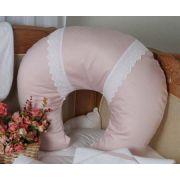 Almofada Amamentação 400fios Renda Rosa Antigo ac Baby 05228