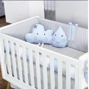 Almofada Decorativa Nuvem e Gota Azul - Batistela Ref 1001