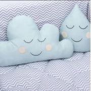 Almofada Decorativa Nuvem e Gota Verde Malva - Batistela Ref 1001