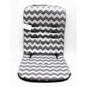 Almofada Para Carrinho Comfi Cush Grey Zigzag/black - Clingo Brasbaby