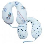 Apoio de Pescoço Com Prendedor de Chupeta Anatomico Masculino Baby Joy
