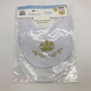 Babador 2 Und Com Botão Coroa Dourado - Baby Joy Incomfral Ref 04040300010002