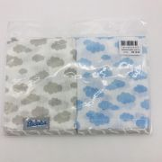 Babetes Fralda Azul e Cinza - Alvinha Minasrey Ref 5965