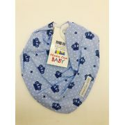 Bandana Coroa Azul - Minha Casa Baby Ref Bab101