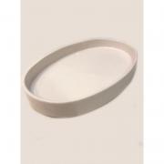 Bandeja de Porcelana Oval Branca 1 UND - Rossi Niero