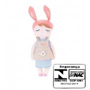 Boneca Metoo Angela Doceira Retro Bunny Rosa 40Cm