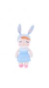 Boneca Mini Angela Azul Jardineira - Metoo Ref 2263