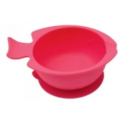 Bowl de Silicone Com Ventosa Rosa - Buba Ref 12637