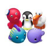 Brinquedos de Banho Animais Marinho 5u - Comtac Ref 4087