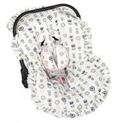 Capa Bebe Conforto e Protetor de Cinto Jardim de Flores - Batistela 02063