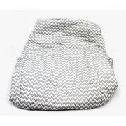 Capa de Bebe Conforto Tricoline Chevron Cinza 200 Fios - Ac Baby Ref 06247 610U