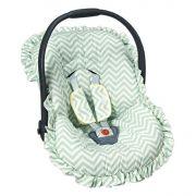 Capa Para Bebê Conforto Chevron Verde - Batistela Ref 2063