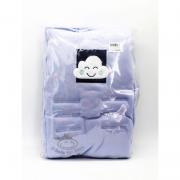 Capa Protetor Para Bebe Conforto Azul Nuvem Suedine - D Bella Ref Col 2295 001U