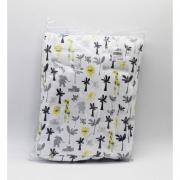 Capa Protetor Para Bebe Conforto Branco Safari Suedine - D Bella Ref Est 2297 002U
