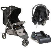 Carrinho 3 Rodas Cross Trail + Bebê conforto + Base Bebê Conforto - Galzerano