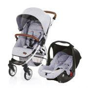 Carrinho Travel System Avito + Bebê Conforto Graphite Grey + Adaptador - ABC Design