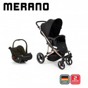 Carrinho Travel System Merano Duo Rose Gold - ABC Design