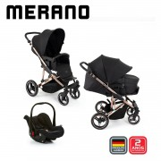 Carrinho Travel System Merano Trio Rose Gold - ABC Design