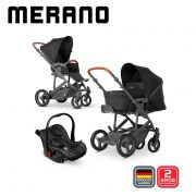 Carrinho Travel System Merano Trio Woven Black - ABC Design