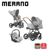Carrinho Travel System Merano Trio Woven Grey - ABC Design