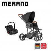 Carrinho Travel System Merano Duo Woven Black - Abc Design