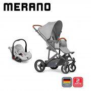 Carrinho Travel System Merano Woven Grey- Abc Design