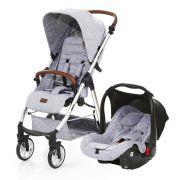 Carrinho Travel System Mint + Bebê Conforto Graphite Grey e Adaptadores - ABC Design