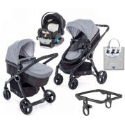 Carrinho Urban com Bebe Conforto Keyfit Black Night + Adaptador + Color Pack Legend - Chicco