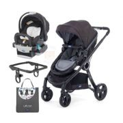 Carrinho Urban com Bebe Conforto Keyfit Black Night + Adaptador + Color Pack Anthracite - Chicco