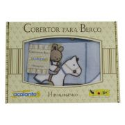 Cobertor Acalanto Carrossel Azul - Colibri