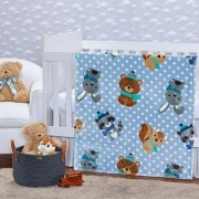Cobertor Baby Flannel Friends Azul Etruria