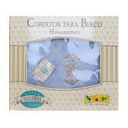 Cobertor Exclusive Bordado Camafeu Azul - Colibri Ref 46831