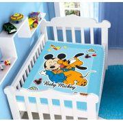 Cobertor Infantil Disney Mickey e Pluto - Raschel Jolitex Ref 04156