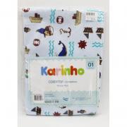 Cobertor  Karinho Estampado Baleia   - Papi Ref 1445