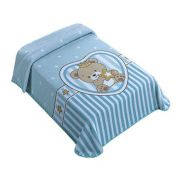 Cobertor le Petit Superstar Azul - Raschel Colibri