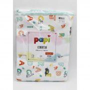 Cobertor Letrinhas 90 cm x 70 cm -  Papi Ref 1380