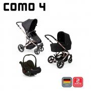 Carrinho Como 4 Diamond Rose Gold Moises Bolsa e Bebê Conforto - Abc Design