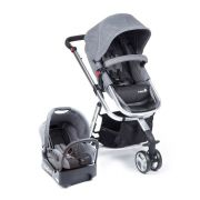 Carrinho Travel System Mobi Grey Denim Silver Safety 1st - Dorel  Ref Cax90258