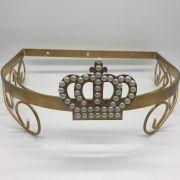 Dossel Resinas Dourado Com Coroa - Magia e Fantasia Ref 8048
