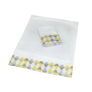 Kit 2 Fronhas Antissufocante Balão Amarelo Com Cinza - Ac Baby Ref 05378 623U