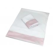 Kit 2 Fronhas Antissufocante Rosa Quartzo  - Ac Baby Ref 05378 286U